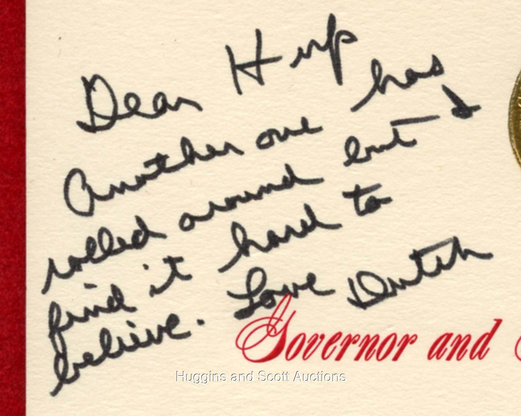 Ronald reagan governor of california christmas card signed as dutch pictures click on photo to enlarge feature will be enabled on 11232013 kristyandbryce Choice Image